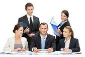 Group of executives debating — Stock Photo