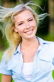Portrait of pretty blond girl — Stock Photo