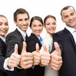 Group of thumbing up business people — Stok fotoğraf
