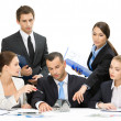 Stock Photo: Group of business team discussing