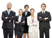 Managers with taped mouths — Stock Photo