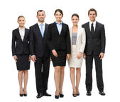 Full length of group of managers — Stock Photo