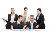 Group of managers working — Stock Photo