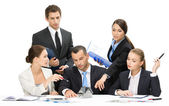 Group of business team discussing — Stock Photo