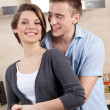 Stockfoto: Couple hugs one another
