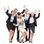 Groupe de gens d'affaires heureux — Photo