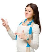 Youngster hand guns gesturing — Stock Photo