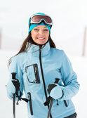 Portrait of female who goes skiing — Stock Photo