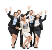Group of happy business people — Stock Photo