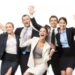 Group of glad managers — Stock Photo #33823061