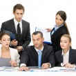 Stock Photo: Group of business people debating