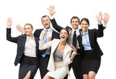 Group of glad managers — Stock Photo