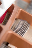 Close up view of piano chords — Stock Photo