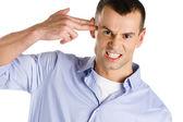 Man hand gun gesturing — Stock Photo