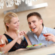 Stock Photo: Married couple has romantic supper