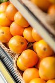 Top view of oranges in the shop — Stockfoto
