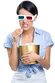 Menina de óculos 3d — Foto Stock