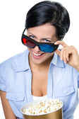 Girl in 3D glasses — Stock Photo