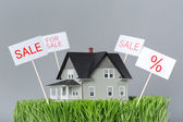 Close up of model house for sale — Stock Photo