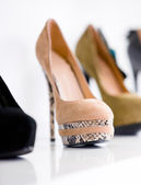 Close up of set of footwear — Stock Photo