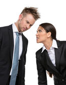 Twee agressieve ondernemers — Foto de Stock