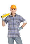 Foreman with instrument — Stock Photo