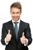 Man shows thumbs up — Stock Photo