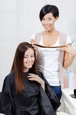 Hairdresser for woman — Stock Photo