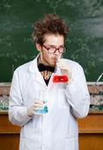 безумный профессор — Стоковое фото