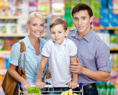 Family in the shopping mall — Stock Photo