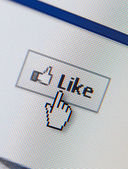 Close up of like button — Stock Photo
