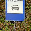 Transport sign on signboard, taxi car station. — Stock Photo