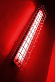 Red neon power lamp, energy details. — Stock Photo