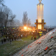 Stock Photo: Holodomor (79th anniversary) marks in Kiev, Ukraine on November 24, 2012.