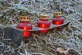 Few red icon-lamp, environment . — Stock Photo