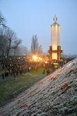 Holodomor (79th anniversary) marks in Kiev, Ukraine on November 24, 2012. — Stock Photo