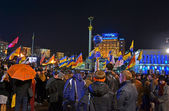 Orange Revolution celebration anniversary in Kiev, Ukraine. — Stock Photo