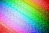 Abstract rainbow zigzag textile closeup, texture. — Stock Photo