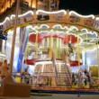 Carousel (roundabout) on central street in Kiev, Ukraine - Stock Photo
