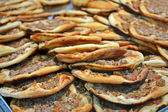 Delisious blin heap, roasted food. — Stock Photo