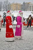 Santa claus (fait moroz) accueille avec Noël, vacances nouvel an. — Photo
