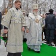KIEV - JAN 19: Epiphany (Kreshchenya) morning in Kiev. — ストック写真