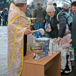 KIEV - JAN 19: Epiphany (Kreshchenya) morning in Kiev. — Foto de Stock