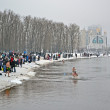 KIEV - JAN 19: Epiphany (Kreshchenya) morning in Kiev. — Photo