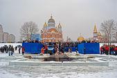 Epiphany (Kreshchenya) morning in Kiev, Ukraine. — Stock Photo