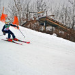 Sportsman on ski in Protasov Yar during ski competition. — 图库照片 #19734321