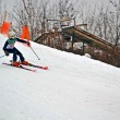 Sportsman on ski in Protasov Yar during ski competition. — Stockfoto #19734321