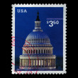 Capitol Dome, circa 2001, USA, postal stamp. — Stock Photo #19785165