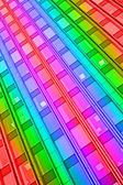 Rainbow interior, abstract disco. — ストック写真