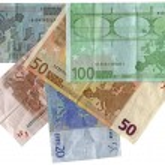 Different colourful euros isolated, savi — Stock Photo #2184181
